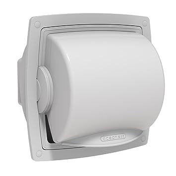 Oceanair Marine Dryroll Protective Toilet Roll Dispenser From Oceanair,  White