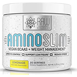 AMINO SLIM – Slimming BCAA Weight Loss Drink For Women, Vegan Amino Acids & L-Glutamine Powder for Post Workout Recovery & Thyroid Support | Appetite Suppressant, Metabolism Booster & Stress Relief