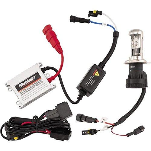 BikeMaster 6000K H4HL HID Light Kit, White Bulb - One Size