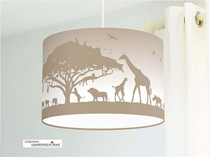 Lampe für Kinderzimmer Tiere Afrika Kinderlampe: Amazon.de: Handmade