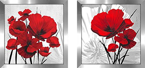 Art Sets of 2 Twin Set Matching Glass Framed Free Shpping Made in North America by FramedCanvasArt