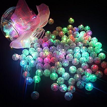 100pcs LED Mini Round Ball Balloon Light Long Standby Time Ball Lights for Paper Lantern Balloon Halloween Party Wedding Decoration White