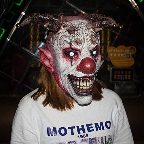 WSJDE Jingle Jangle Horror Bell Payaso Arnés Halloween Látex ...