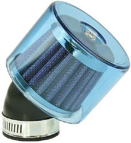 35mm Luftfilter Air-System 45 Grad blau