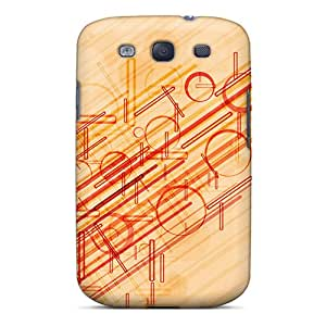 Fashionable Style Case Cover Skin For Galaxy S3- Lines And Circles