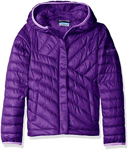 Columbia Big Girls' Powder Lite Puffer Jacket, Iris Glow, - Lite Iris
