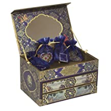 Dove of the East Russia Journey Treasure Box with Ribbons and Sparkling Embellishments