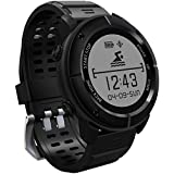 GPS Smartwatch, 11 Sports Modes Waterproof Smart Watch with SOS Heart Rate Monitor Compass Barometer
