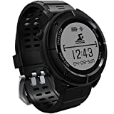 GPS Smartwatch, 11 Sports Modes Waterproof Smart Watch with SOS Heart Rate Monitor Compass Barometer Stopwatch Pedometer for Hiking Running Swimming etc., Support IOS iPhone & Android Cellphones