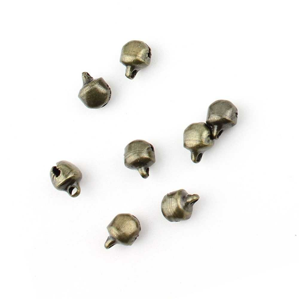 6mm Diameter Jingle Bells in Bronze Charms Crafts Xmas Morris Dancer 100pcs