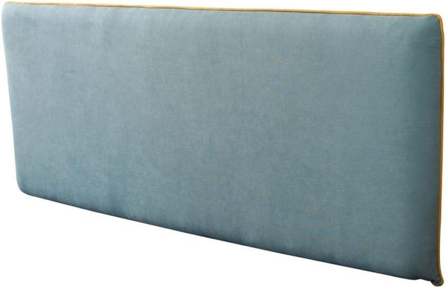 ヘッドバッグ枕、ダブル枕、大きなホームオフィスフォルダーカバーベッド読書ベッド枕洗えるとベッドなし4色、4サイズ(色:青、サイズ:ヘッドボードなし203 * 66cm)