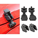 Liquor Car New For Jeep Wrangler 2007-2016 2008 2009 2010 2011 2012 2013 2014 2015Pair Black Front Hood Cover Buckles Clasps Zinc Alloy Coating