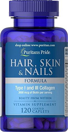Puritan's Pride Hair, Skin & Nails Formula-120 Caplets