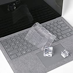 Leze - Ultra Thin Keyboard Protector Skin Cover For Microsoft Surface Laptop(2017 Released) & Surface Book & Surface Book 2,soft-touch & Precision Fit Keyboard - Tpu