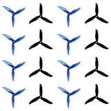 DALPROP Cyclone 16pcs T5040C 5040 5 Inch Props 3-Blade Propeller (8CW/8CCW) for FPV Freestyle Drone Quadcopter (Black & Blue)