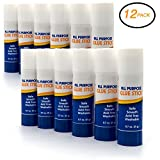 Emraw Premium Large Glue Stick 0.7 oz. (21g) Safe Smooth Wrinkle Acid Free - Used on Photos, Papers, Envelops Etc. Good for Home, Office & School (12-Pack)