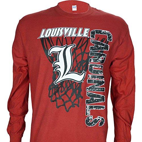 - University of Louisville Super Net on Long Sleeve Blue T Shirt (XL)