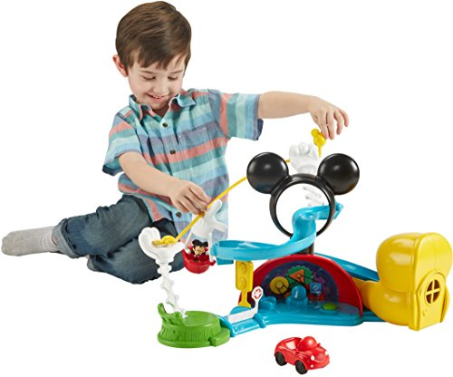4c27d8226 ... FisherPrice Disney Junior Mickey Mouse Clubhouse Zip Slide and Zoom  Clubhouse Playset ...