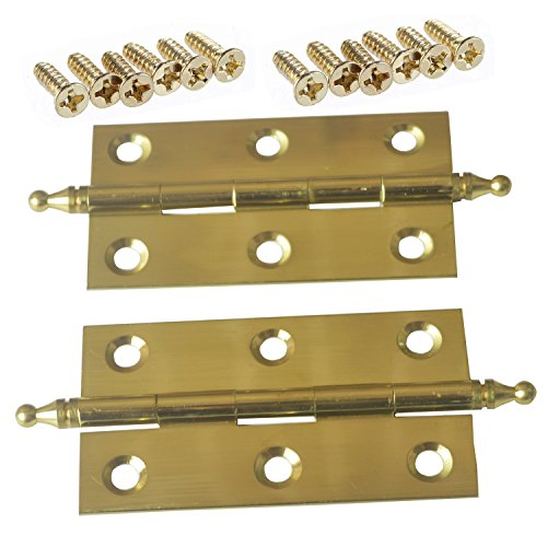 id Brass Butler Tray Hinge With Screws Satin Finish For Folding Tables - Gold ()