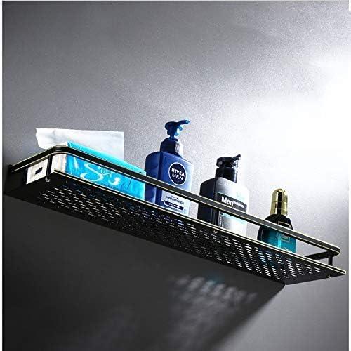 Size : 50CM Huasa Ducha Negro Plataforma de ba/ño montado en la Pared Estanter/ías de Aluminio a Prueba de Herrumbre estantes flotantes de Almacenamiento de Mimbre for la Cocina Ba/ño