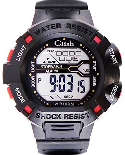 Electronic Sport Digital Wrist Watch 100M Waterproof Watches (W22-Commodity Packaging)