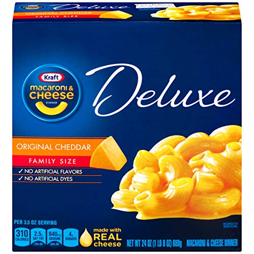 (Kraft Deluxe Original Cheddar Macaroni & Cheese Dinner (24 oz Boxes, Pack of 3))