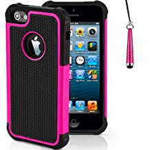 Case for Apple iPhone 5s 5 SE Shockproof Phone Cover with Screen Protector / iCHOOSE / Pink