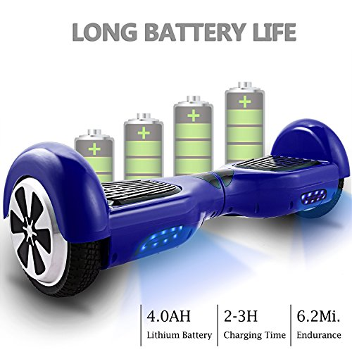 Two-wheel Self Balancing Scooter Hover Board UL2272 Certified Smart Hoverboard with Lights Personal Commute Tool ()