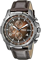 Fossil Men's FS5113 Stainless Steel Watch with Leather Band
