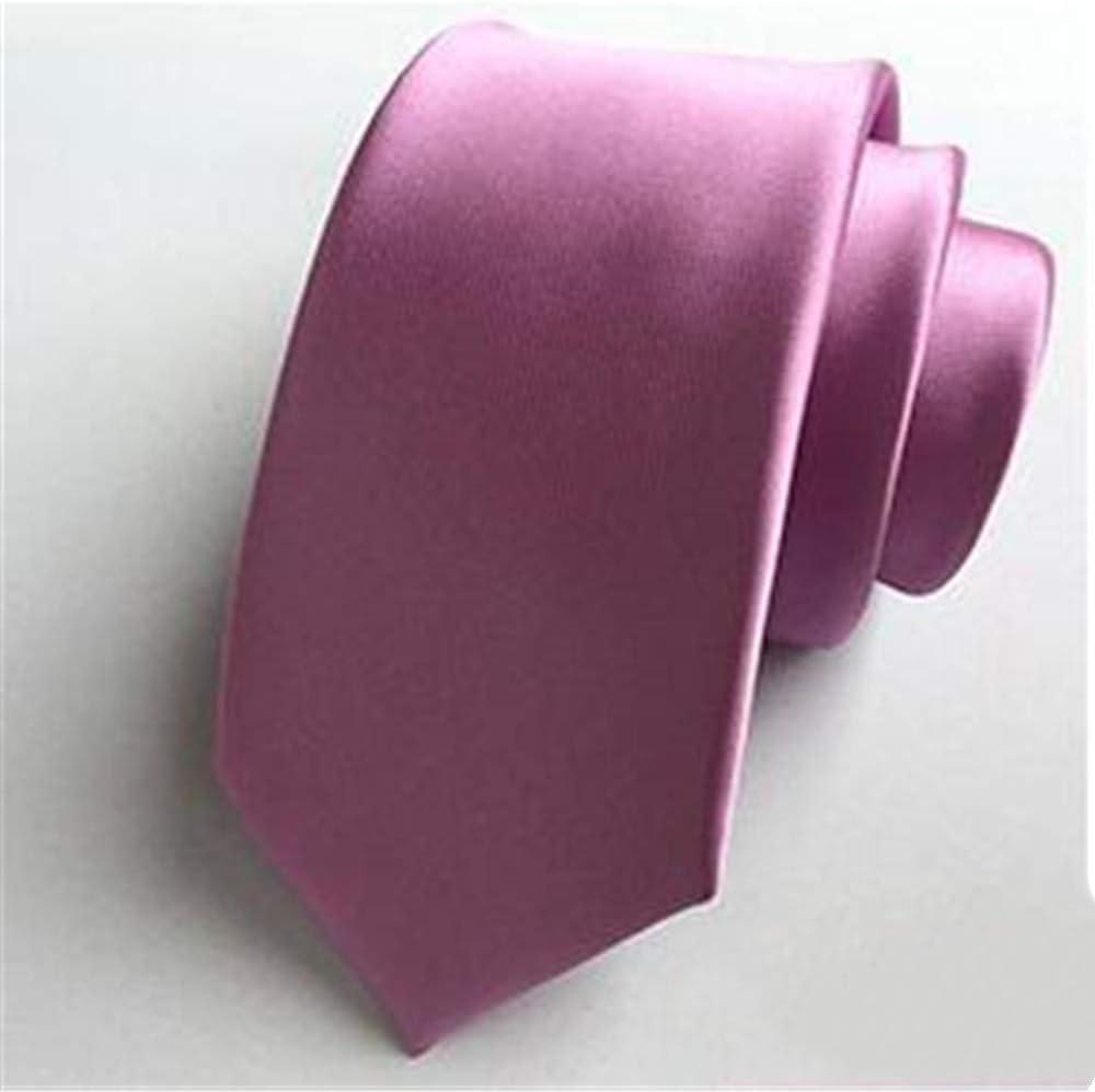 xqzs Color sólido Corbata pequeña Masculina 6 cm versión Estrecha ...