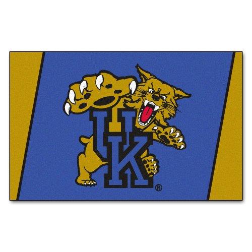 FANMATS NCAA University of Kentucky Wildcats Nylon Face 4X6 Plush Rug