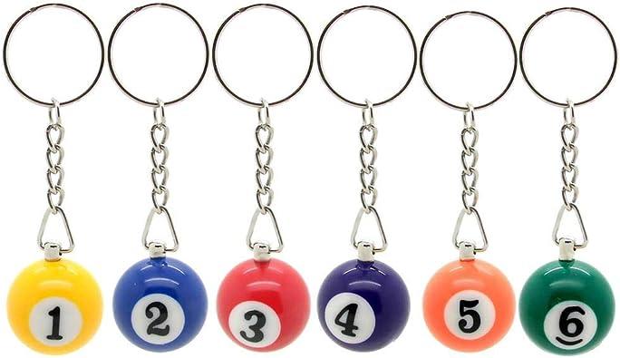 tumundo Set de 6 Piezas bolas de billar carambola colgante con ...