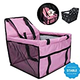 Pet Booster Seats Car Seat Cover Pet Carrier Essentials Waterproof Non-Slip Bag for Pets (pink)