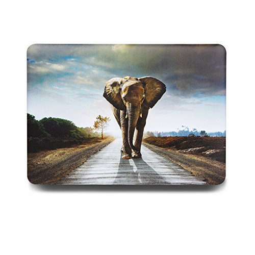 One Micron MacBook Pro 13 inch Cover Case, Matte Soft Plastic Hard Case for MacBook Pro 13''(A1278) With CD-ROM, Elephant (Tiger Macbook Pro)