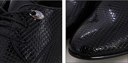 Scarpe Abbigliamento 38 Pochette Banchetto Scarpe Cuoio 3006 Abito Scarpe Oxford Da Uomo Sposa Pizzo 3101BLACK 41 Tatuaggio in NSPX black wx1Zw