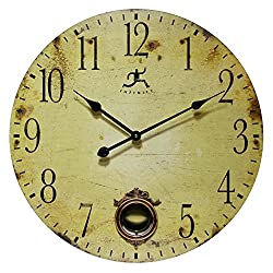 24 Inch Large Rustic Pendulum Wall Clock, Cottage Grove by Infinity Instruments