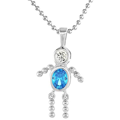 Sterling Silver Heart Birthstone Necklace - December - Gift Boxed p3shAyks9d
