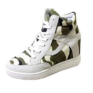 f8e05327a66f DENER Women Ladies Girls Platform Wedge Sneakers