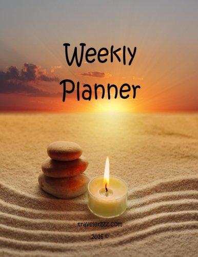 Read Online Weekly Planner (8.5 x 11 inch): travelerzzz.com (Volume 1) pdf epub