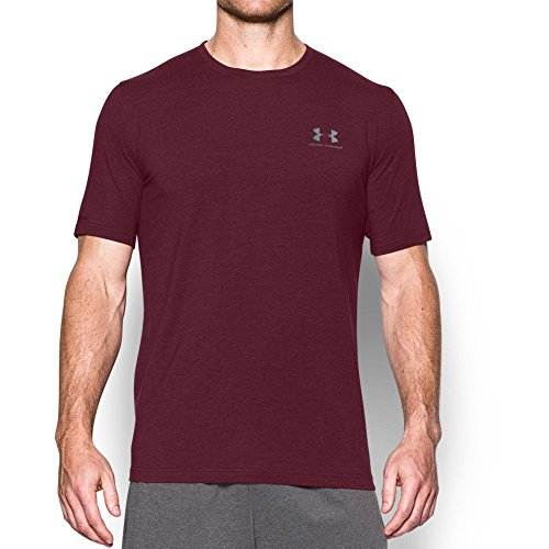 Under Armour Men's Charged Cotton Sportstyle T-Shirt, Dark Maroon/Steel, X-Large