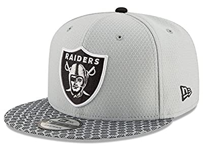 New Era Oakland Raiders 2017 NFL 9Fifty Sideline Adjustable Snapback Hat from New Era