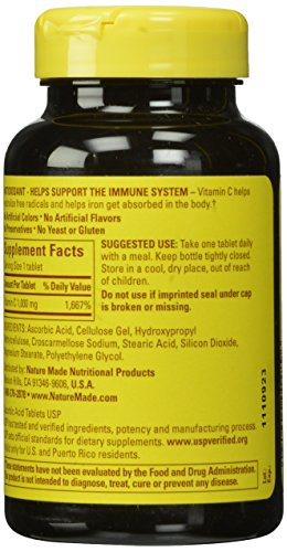 031604014896 - Nature Made Vitamin C, 1000 mg, 100 Tablets. carousel main 4