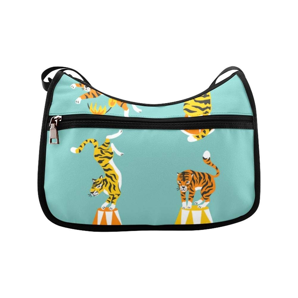 The Ferocious Bengal Tiger In The Forest Messenger Bag Crossbody Bag Large Durable Shoulder School Or Business Bag Oxford Fabric For Mens Womens