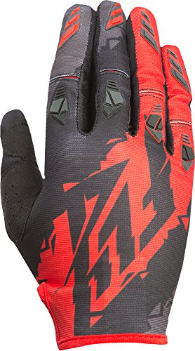 Fly Racing Unisex-Adult Kinetic Gloves Black/Red Size 8/Small