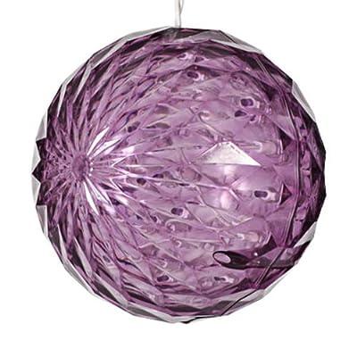 20 LED Bulbs - Purple - Star Christmas Light Sphere 6 in. Diameter - White Wire