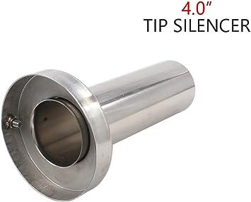 """Exhaust Muffler Silencer 4.5/"""" Stainless Double Section Exhaust Muffler Hot"""