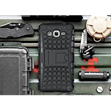 Cocomii Grenade Armor Galaxy Grand Prime Case NEW [Heavy Duty] Premium Tactical Grip Kickstand Shockproof Hard Bumper Shell [Military Defender] Full Body Dual Layer Rugged Cover for Samsung Galaxy Grand Prime (G.Black)