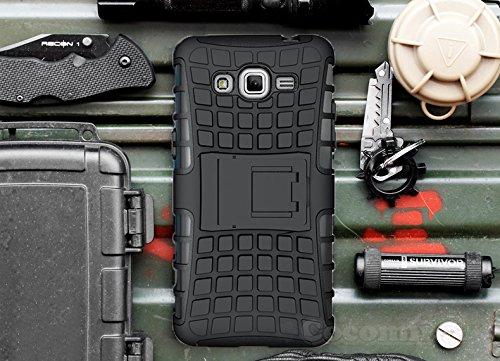 Slim Shockproof Case for Samsung Galaxy On7 (Black) - 3