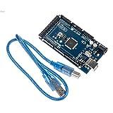 New 1pc Funduino Arduino Mega 2560 ATmega2560-16AU Board + USB Cable in 1 Set