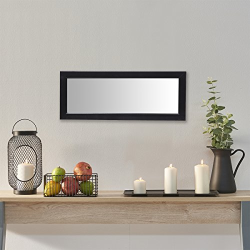 Gallery Solutions Black Locker Mirror, 4-Inch by 12-Inch